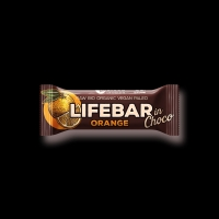 BIO RAW Lifebar InChoco pomeranč 40 g
